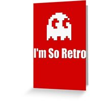 I'm So Retro - Atari - 80s Computer Game - Pacman T-Shirt Greeting Card