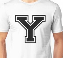 College letter Y in black Unisex T-Shirt
