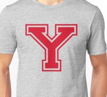 College letter Y in red Unisex T-Shirt
