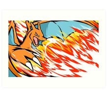 Charizard | Heat Wave Art Print