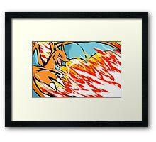 Charizard   Heat Wave Framed Print