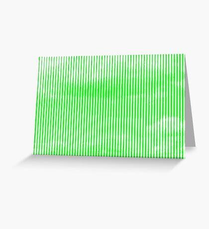Cloud3frameD -L- White&Green Greeting Card
