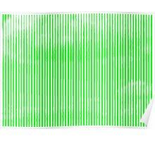 Cloud3frameD -L- White&Green Poster