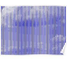 Cloud3frameD -L- White&Blue Poster