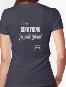 King Thing T (white letter) by Elisabeth and Barry King™ Womens Fitted T-Shirt