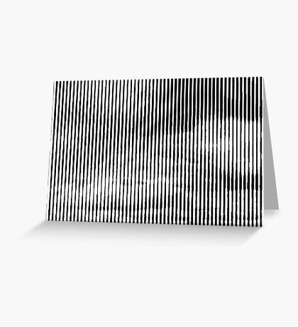 Cloud3frameD -R- White&Black Greeting Card
