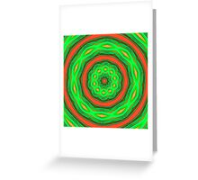 Green and orange abstract Greeting Card