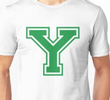 College letter Y in green Unisex T-Shirt