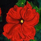Hot Red Petunia by Anne Gitto
