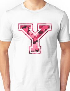 College letter Y with hearts pattern Unisex T-Shirt