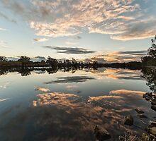 Sunset Wollamba river by GeoffCC