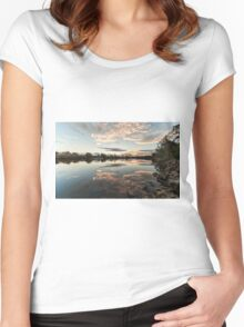 Sunset Wollamba river Women's Fitted Scoop T-Shirt