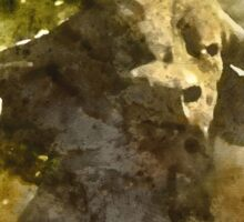 African Buffalo Watercolour Sticker