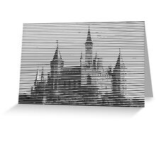 pic2line - Castle Greeting Card