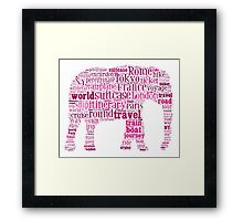 Journey Keywords Tag Cloud Framed Print