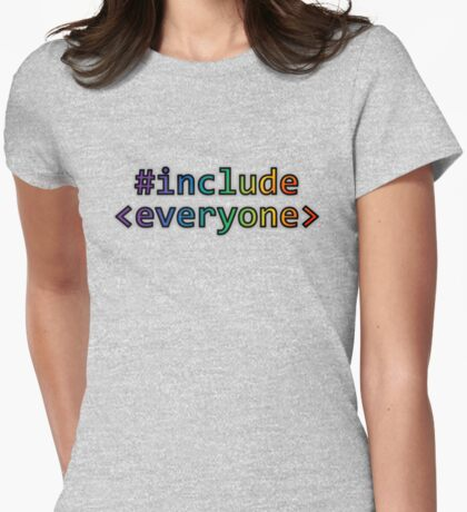GEEKS FOR PEACE - #INCLUDE EVERYONE Womens Fitted T-Shirt