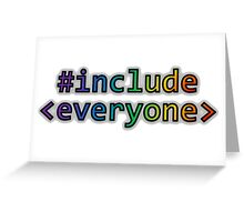 GEEKS FOR PEACE - #INCLUDE EVERYONE Greeting Card