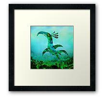 Childhood Dragons - the Sea Serpent Framed Print