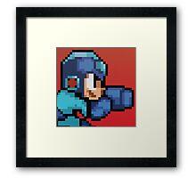 Megaman 8bit Halftone Framed Print