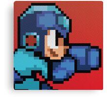 Megaman 8bit Halftone Canvas Print