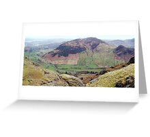 View of Langdale from Stickle Tarn Greeting Card