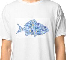 Fishing Tag Cloud  Classic T-Shirt