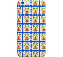 Golden Christmas Bell Wallpaper  blue background  iPhone Case/Skin