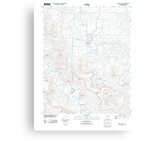 USGS TOPO Map Arkansas AR Green Forest 20110727 TM Canvas Print