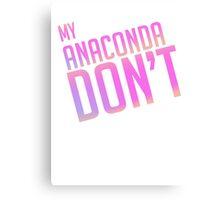 Anaconda Text Only Canvas Print