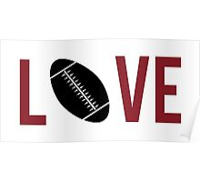 Love Football (red) Poster