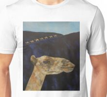 Memories of Lanzarote - camels on black sand Unisex T-Shirt