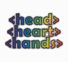 GEEKS 4 PEACE - OPEN HEAD, OPEN HEART, OPEN HANDS Baby Tee