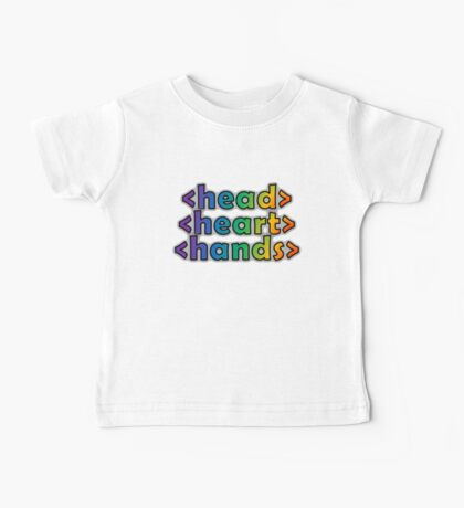GEEKS 4 PEACE - OPEN HEAD, OPEN HEART, OPEN HANDS Baby Tee