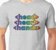 GEEKS 4 PEACE - OPEN HEAD, OPEN HEART, OPEN HANDS Unisex T-Shirt