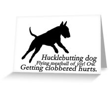 Bull Terrier Haiku Greeting Card