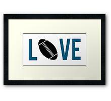 Love Football (blue) Framed Print