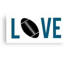 Love Football (blue) Canvas Print