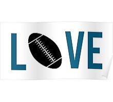 Love Football (blue) Poster