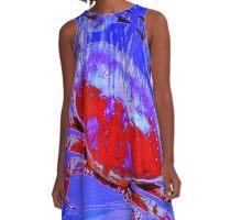 Red & Blue Crab A-Line Dress