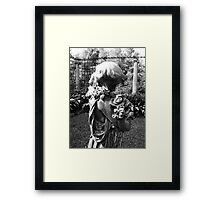 Woman With Flowers Framed Print