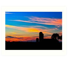 The Simple Life - Sunset Rural Landscape Art Print