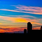 The Simple Life - Sunset Rural Landscape by Mark Tisdale