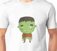 Creepy Halloween Character In Vintage Style Unisex T-Shirt