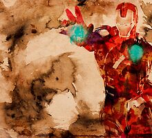 Watercolor Iron Man by dobermanphoto