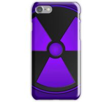 Purple Radioactive Symbol iPhone Case/Skin