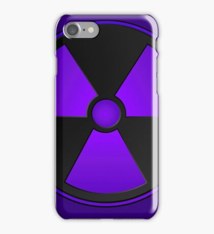 Purple Radioactive Symbol iPhone Case/Skin