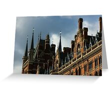 London's Eurostar Train Station St. Pancras International - a Remarkable Victorian Gothic Revival Building Greeting Card