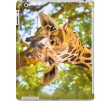 What Ya Looking At? - Funny Giraffe Hamming it Up iPad Case/Skin