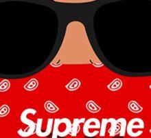 hip hop supreme Sticker