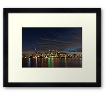 Toronto's Dazzling Skyline Across the Lake Framed Print